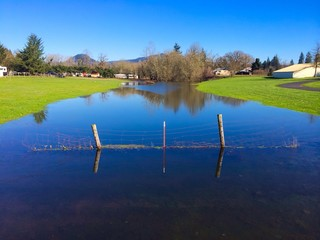 Flooded Farm Land in Oregon