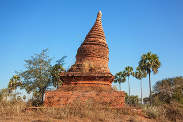 Ancient Buddhist Stupa in Bagan, Myanmar.