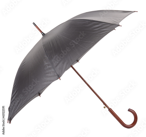 Black Umbrella isolated on white
