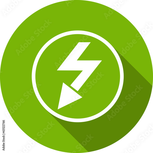 Ecology Flat Icon with shadow. Vector EPS 10.