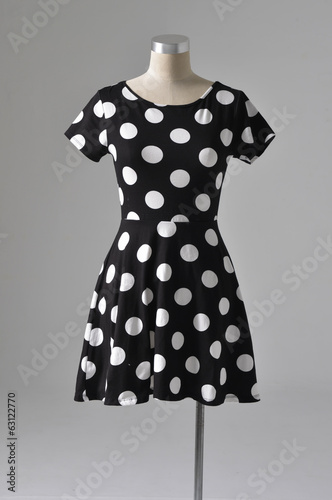 female dress mannequin isolated