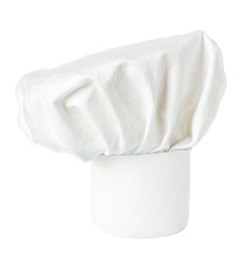 White cooks cap, chef hat isolated