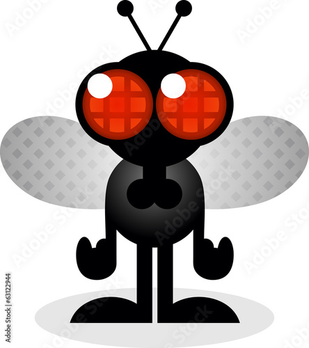 House Fly Cartoon Character