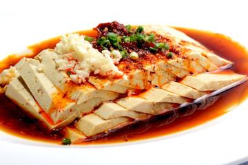 Chinese Food: Salad made of Toufu