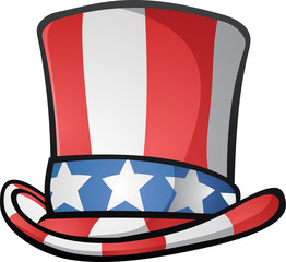 Uncle Sam Top Hat American Cartoon Illustration
