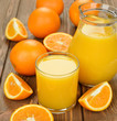 canvas print picture - Fresh orange juice
