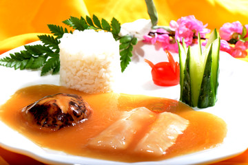 Chinese Food: Fish fillet with Rice