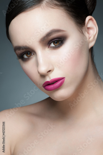 Woman with makeup