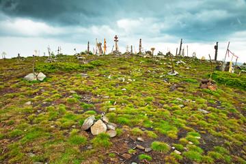 Cemetery on the mountain