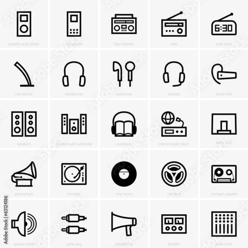 Set of Audio icons