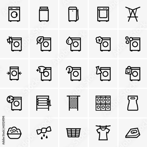 Set of Laundry icons