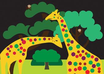 Colored giraffes