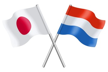 Flags: Japan and Luxembourg