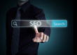 Search on virtual screen with SEO process information