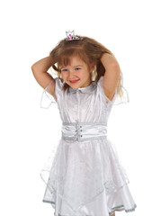 Little girl dressed as princess