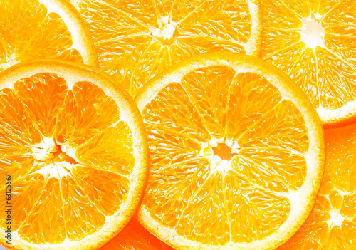 Background texture of fresh orange slices