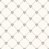 Vector seamless retro pattern, with diamonds. - 63125734