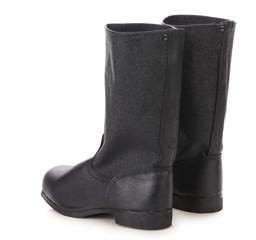 Tarpaulin boots.