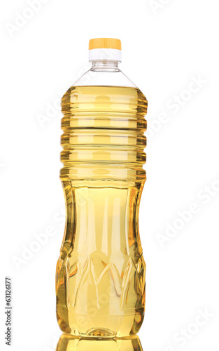 Bottle of sunflower oil.