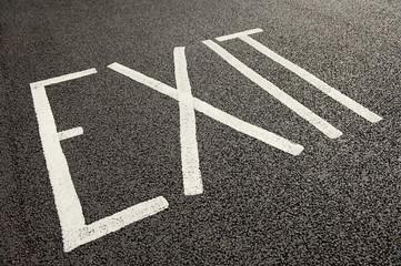 Exit Road Sign