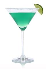 Grüner Cocktail im Martini Glas