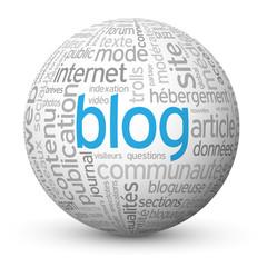 """Globe - Nuage de Tags """"BLOG"""" (actualités réseaux sociaux médias)"""