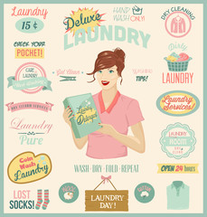 Laundry Design Set.