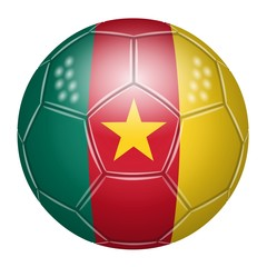 Ballon de football aux couleurs du Cameroun