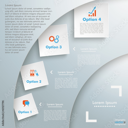 Cutting Circle Background Infographic