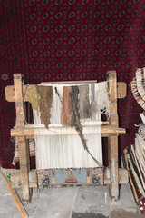 frame for making a turkish carpet