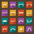 Set of mustaches .Vector retro icons