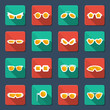 Sunglasses and glasses icons