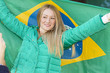 Brazilian supporter with flag