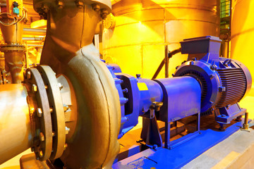Factory equipment.Electric motor of pumps