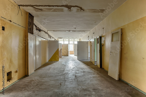 Dirty, old and forgotten corridor