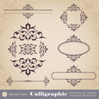 Calligraphic elements for design and page decoration - set 3
