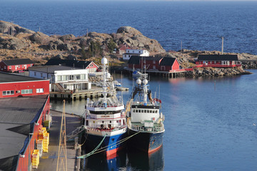 fish factory and fishing boats