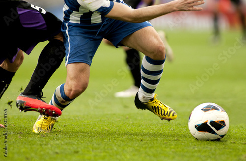 canvas print picture Futbol. Accion de ataque