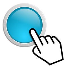 Blauer Button mit Cursor
