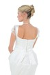 Rear view of bride over white background