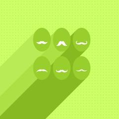 jajka z wąsami zielona kartka Wielkanocna