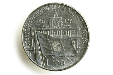 100 lire Accademia navale di Livorno 1981 Lira Italia