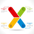 creative alphabet 'X' info-graphics design vector
