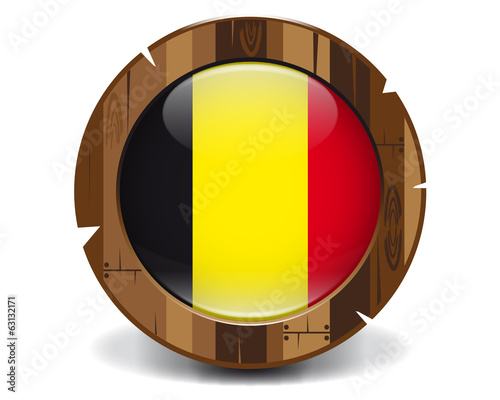 Belgium wood button