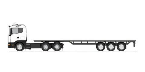 Truck with semitrailer platform