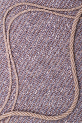 Frame of fabric and rope