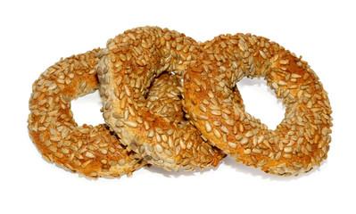 Three Turkish bagels
