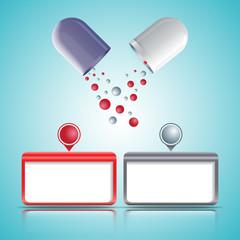 Medical capsules_two type of granules