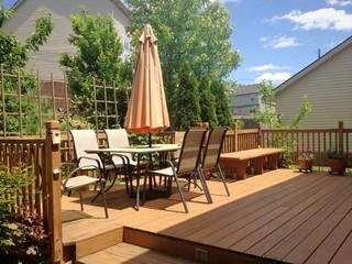 Summer garden and deck
