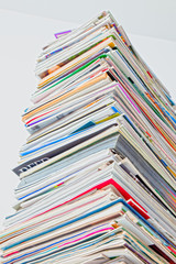 Tall Stack of Magazine, HDR Color